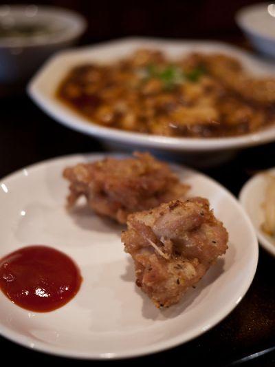 中華料理 山東 ランチの唐揚げ