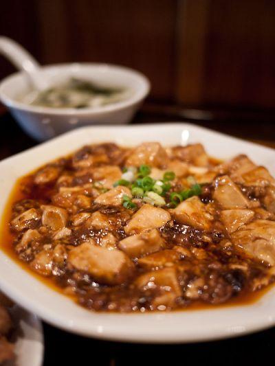中華料理 山東 ランチの麻婆豆腐