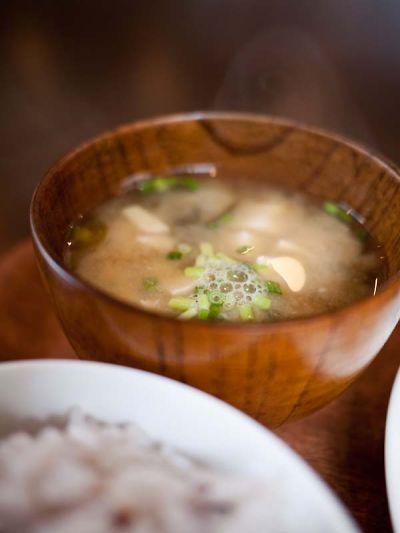 カフェ 奏楽遊楽(ソラユラ) ランチの味噌汁