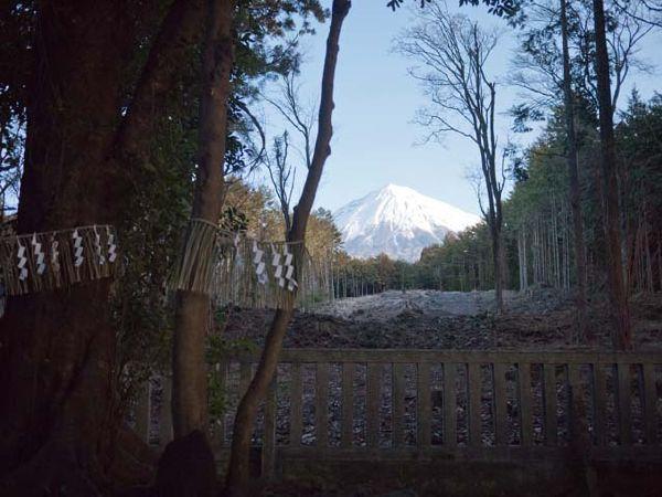 山宮浅間神社 霊峰富士を望む
