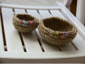 紡ぎ毛糸かご
