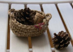 紡ぎ毛糸かご2