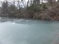 未だ氷が薄い五色沼