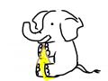 象のニット編み