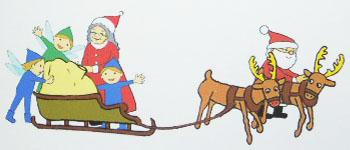 サンタさんの家族