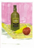 Nパウテルテキスト4基礎模写見本画・ボトル、バナナ、りんご