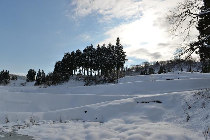 雪の山里-2