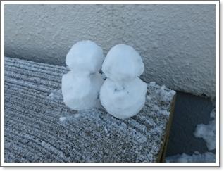 雪だるま2014年1月14日