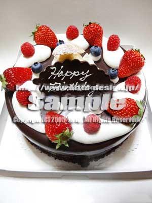 写真素材チョコレートケーキ