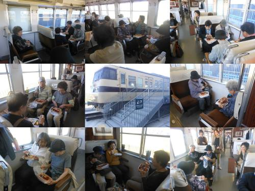 食堂列車で!