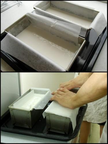 12.09.09米粉パン教室_米粉100%食パン焼成前