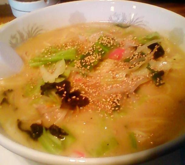 野菜たっぷりタンメン840円