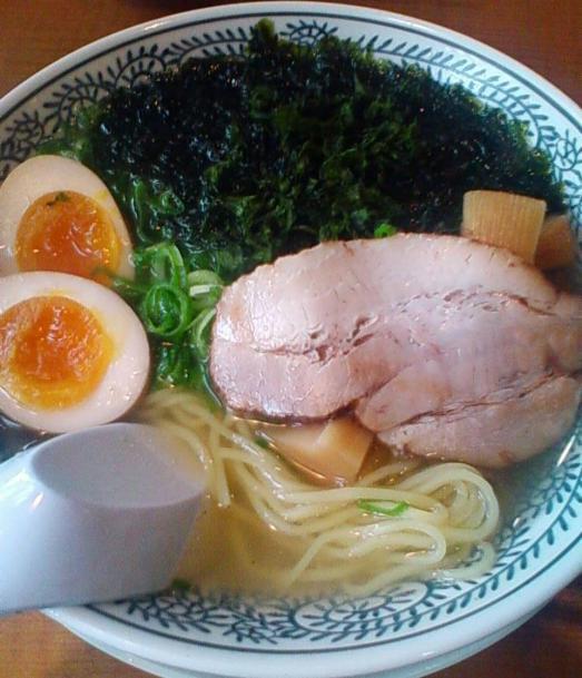 磯海苔味玉塩ラーメン819円