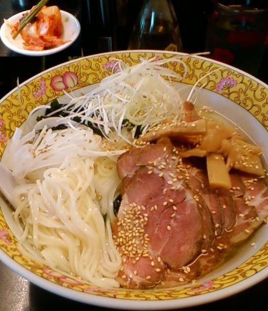 冷やしタンメン500円+チャーシュー300円