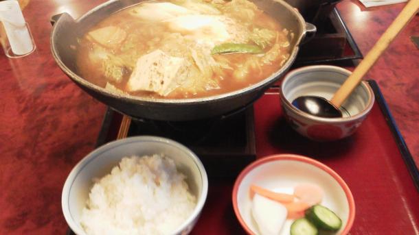 味噌煮込みうどん1029円+ご飯250円