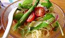 レストラン ヴォーノ③(冷製トマトラーメン800円)