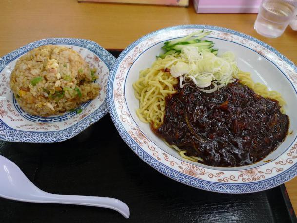 韓流ジャージャー麺+半チャーハンセット830円