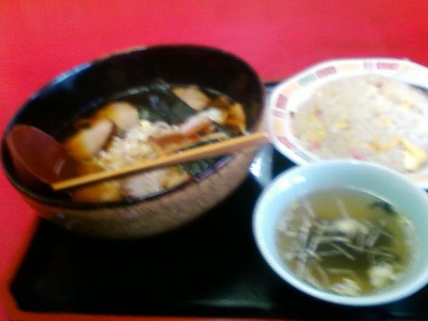 チャーシューメン630円+チャーハン500円