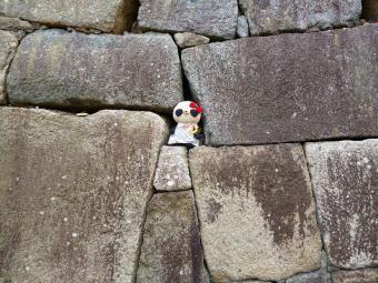 名古屋城の大きな石垣とスターおばぶ