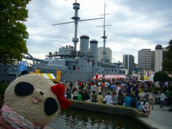 カレー祭りの記念艦三笠