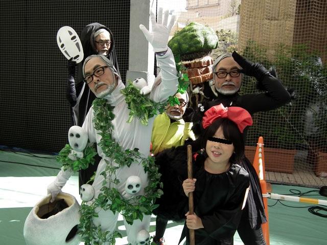 カワサキハロウィン2013 ジブリのキャラクターの顔が宮崎駿監督