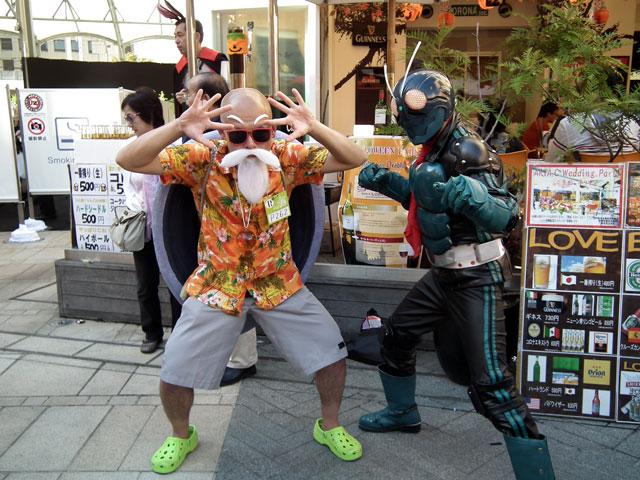 カワサキハロウィン2013 亀仙人と仮面ライダー