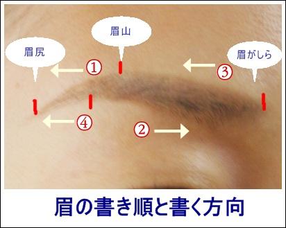 眉の書き順 コスメ1