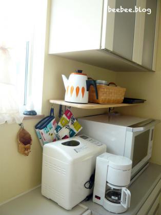 キッチンに棚