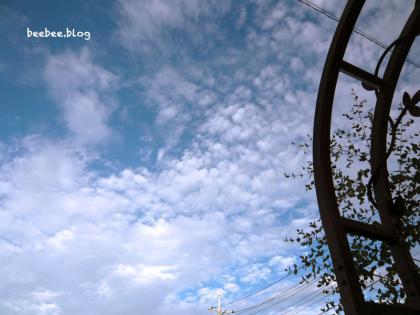 2012年の夏の空
