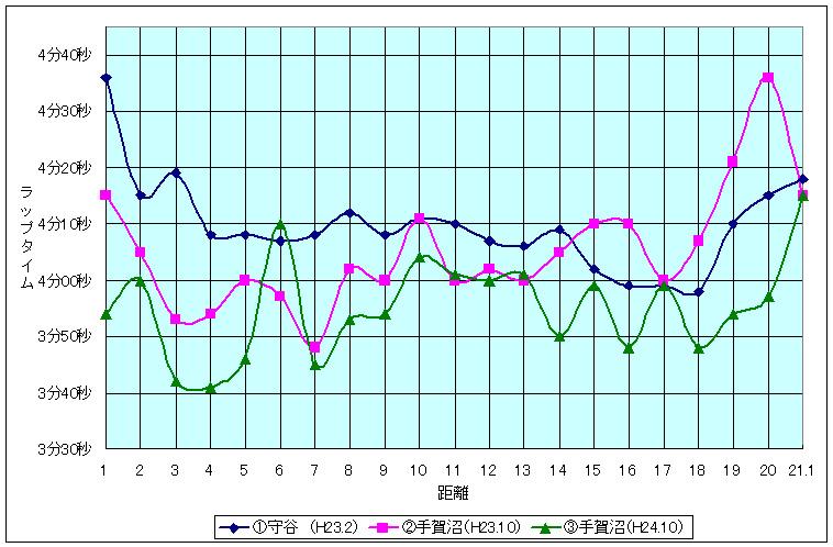 ハーフマラソン グラフ