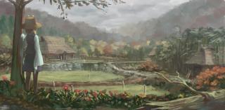 諏訪村の風景