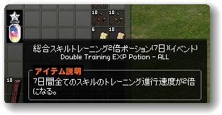 121225総合スキルトレーニング2倍ポーション