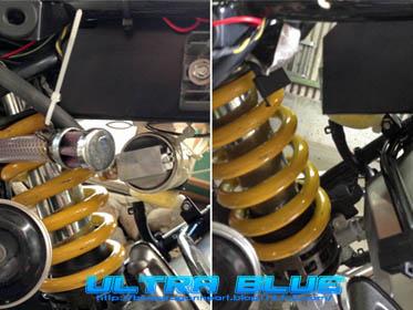 バッテリーケース移設前後比較