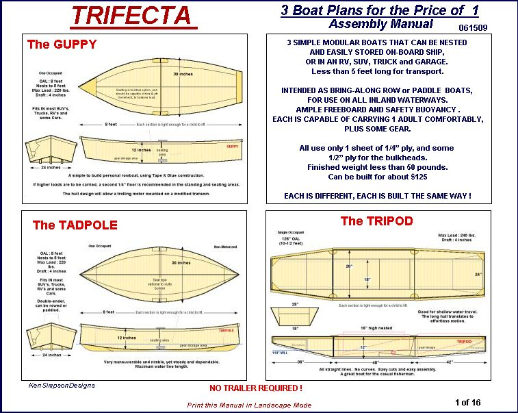 Layout Boat Plans Free