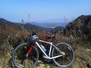 長野峠景色with自転車