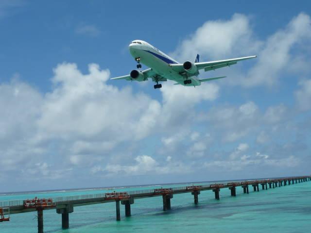 下地島の飛行訓練