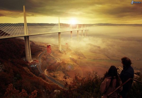 ponte-millau-nella-nebbia,-ponte-dellautostrada,-costruzione,-francia,-levata-del-sole-148439