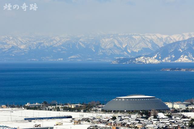 雪山を見ながら
