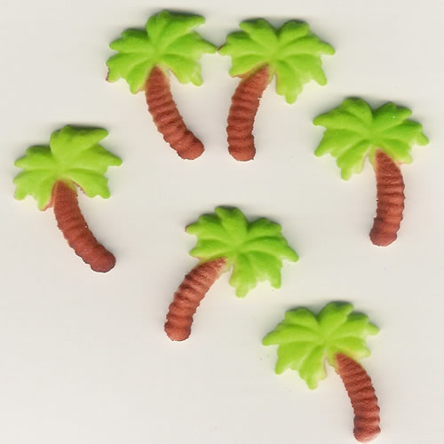 Edible Palm Tree Cake Decorations
