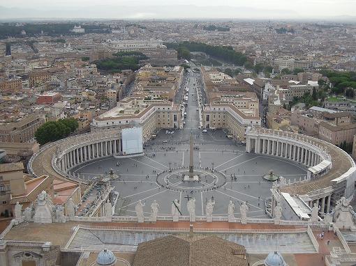 頂上から観たサン・ピエトロ広場