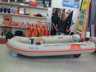2馬力ゴムボート デビュー夢見て