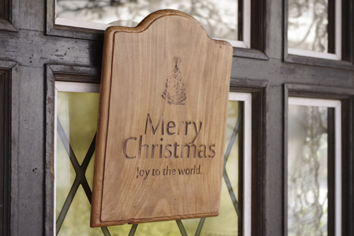 ナチュラルなアンティーク風クリスマスボード