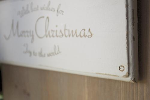 アンティーク風ホワイトクリスマスプレート