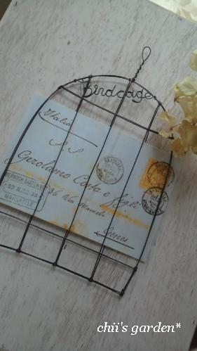 wire birdcage card holder-2