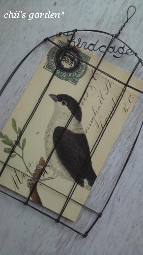 wire birdcage card holder-1