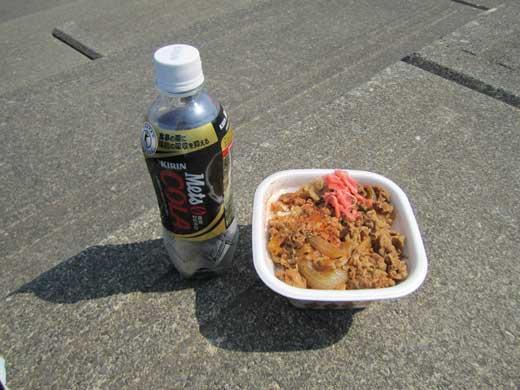 20120519ランチは牛丼とメッツコーラ(トクホ!)