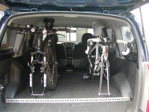 トヨタサクシード自転車積載,ロードバイク,MTB