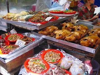 チャイナタウンの食材店