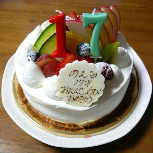 P1370691_17歳のバースデーケーキa