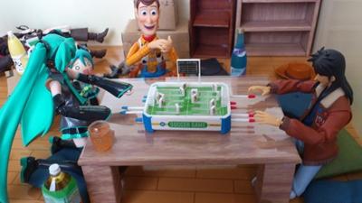 サッカーゲームをプレイ
